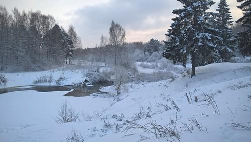 Зимой на берегу Черёмухи