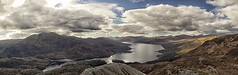 Katrine View (TheWildFireOne) Tags: trossachs mountain high sky blue green scottish landscape clouds mountains trees loch katrine ben aan 500px