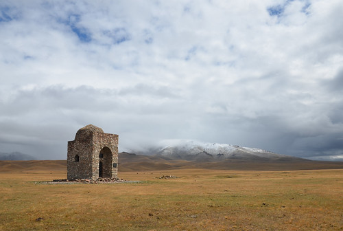 Tomb of a warrior, Song-Kul, Kyrgyzstan