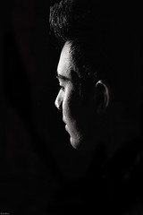 Man In Black (dibakardipu) Tags: blackandwhite man maninblack nikon light night outdoor outdoorportrait portrait