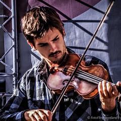 On the fiddle ! (FotoFling Scotland) Tags: 2015 arts edinburgh edinburghfestivalfringe royalmile violin august fiddler highstreet male performer promotion streetperformer streettheatre