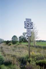 Clare, MI- US 127 & US 10 (jerseyman65) Tags: michigan freeways roads routes signs travel ushighways usroutes expressways shields guidesigns highways