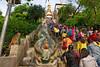 Swayambunath (Bertrand de Camaret) Tags: nepal asie asia swayambunath stupa bouddhisme garuda dieu god singe monkey foule escalier steps bertranddecamaret ngc nationalgeographic horizontale festival statue monument
