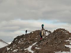 Peter, Julia, Barb on Mist Ridge (David R. Crowe) Tags: landscape mountain mountainscrambling nature outdooractivities scrambling turnervalley alberta canada