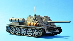 SU-85 - right front (dmaclego) Tags: lego ww2 wwii tank destroyer selfpropelled soviet panzer