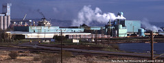 Superior Fiber Products in Superior, Wisconsin 1988 (Twin Ports Rail History) Tags: twin ports rail history by jeff lemke time machine superior wisconsin pulpwood industry fiber products corporation hardboard 1988