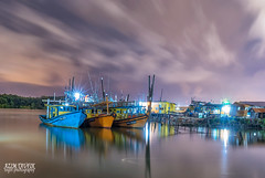Rest For The Night (Azim Taufik) Tags: triggertrap longexposure nightphotography nightscape longtimeexposure slowshutterspeed boats river reflection skyline sky rm infinitexposure flickraward water kuantan pahang malaysia canon eos outdoor