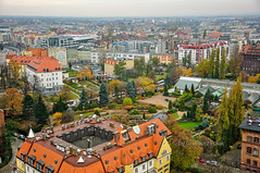Urban architecture in panorama (Grzesiek.) Tags: wroclaw wrocław architecture architektura panorama ogródbotaniczny