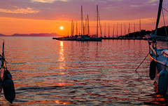 Sivota Harbour Sunset (Greek Mainland) (Canon EOS 7D & EF 35mm f2 Prime) (1 of 1) (markdbaynham) Tags: sunset view sky colour boats sivota harbour greece grecia greka gr hellas hellenic canon canonites canonite eos 7d ef 35mm f2 prime