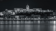 Buda Castle - Budapest (GrandJr) Tags: grandjr nikon d3 50mm 14 ais nd hoya pro nd8 danube river longexposure budapest building city waves ngc night fx mirrored bw castle