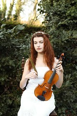 Euterpe (pierianroses) Tags: preraphaelite prraffaeliten brotherhood euterpe muse music lyric poetry greek mythology ancient greece portrait woman violin feather wreath beauty