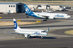 Alaska EMB-175 N170SY and 737 N586AS (Josh Kaiser) Tags: 737 alaska e170 e175 embraer175 n170sy n586as skywest