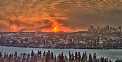 Winter Sunset - Edmonton (John Payzant) Tags: sunset edmonton alberta canada hdr panorama winter city