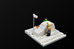 After a night of heavy snowfall (cecilihf) Tags: lego moc car snow shovel