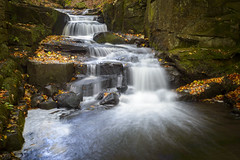 Lumsdale Falls (John__Hull) Tags: waterfall lumsdale falls peak district matlock derbyshire england uk countryside water leaves autumn nikon d3200