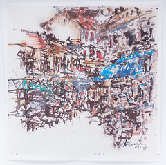 Anthong Chua - Bustling Day I (Ode To Art) Tags: singapore urban shophouse town lively bustling art ink chinese anthonychua