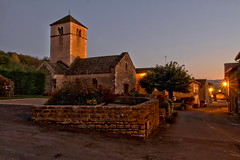 Village déserté (Chemose) Tags: berzélaville nuit night church église roman romanesque rue street bourgogne burgundy southburgundy bourgognedusud saôneetloire mâconnais france canon eos 7d hdr octobre october automne autumn