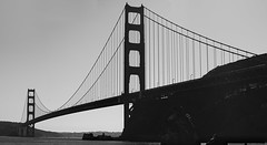 Golden Gate Bridge (David Divorne) Tags: red goldengatebridge goldengate bridge california sanfrancisco sfo blackandwhite bw ca usa unitedstates bay sanfranciscobay nikon d7200 nikond7200