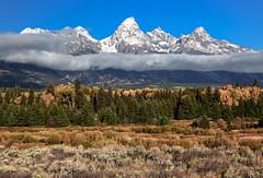 Grand Teton Mountains - Jackson Hole, WY (Ron Raffety) Tags: jacksonhole wyoming mountains tetons tetonmountains tetonmountainrange grandtetons grandtetonmountains autumn fallcolors tetonsautumn ronraffety ronraffetyphotography