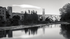 Besal: Black and White (rafa.esteve) Tags: architecture arquitectura besal bridge espaa girona puente spain 16x9