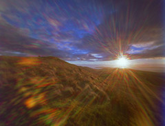 A Few November days (wheehamx) Tags: pinhole largs hill flare sunset