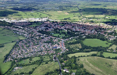 Aerial view of Glastonbury in Somerset (John D F) Tags: glastonbury somerset aerial aerialphotography aerialimage aerialphotograph aerialimagesuk aerialview britainfromabove britainfromtheair