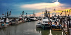 Nautical Ambiance (Images by Christie  Happy Clicks for) Tags: steveston richmond fishingboats nikon boat boats fishboats d5200 sky clouds ambiance ambience mood atmospheric atmosphere