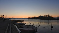Early one morning (KaarinaT) Tags: sea seafront helsinki finland eira morning dawn serene december sunrise boats clearsky
