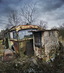 Old Tourbus 1 (Ulvraith) Tags: old classic rusty abandoned bus skoda 706 ro czech republic sony a500