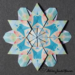 Iimori Flower I (Day 50) (Yureiko) Tags: yureiko tessellation papierfalten papier origami paperfolding paper