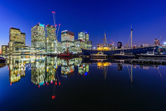 """Consuming Stillness"" Canary Wharf, London, UK (davidgutierrez.co.uk) Tags: london photography davidgutierrezphotography city art architecture nikond810 nikon urban travel color skyscraper night blue uk canarywharf towerhamlets eastlondon westindiadocks photographer londonphotographer bluehour twilight buildings england unitedkingdom 伦敦 londyn ロンドン 런던 лондон londres londra europe beautiful cityscape davidgutierrez capital structure britain greatbritain d810 street longexposure le landmark ultrawideangle afsnikkor1424mmf28ged 1424mm arts lights colourful vibrant streets road attraction colors colours colour dusk transport water canal"
