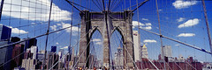 ZUP-732603 (SalvadoriArte) Tags: newyorkcity morning bridge urban architecture outside day cityscape manhattan bluesky nobody cable landmark brooklynbridge highrise newyorkstate sopa sime canali traveltrip unitedstatesusa colorfulcolourful horizontalpanoramic