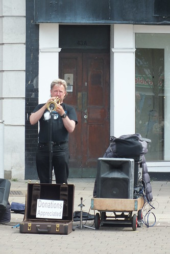 Trumpet player in Market Place