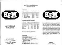 KFM ratecard