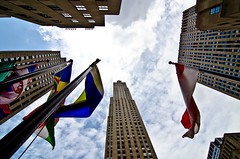 30 Rock Vertigo (DMontalbano) Tags: camera city newyorkcity newyork building concrete photography photo nikon shot wideangle tokina jungle timessquare 30rock concretejungle ultrawideangle d7000 nikond7000 danmontalbanophotography danmontalbano