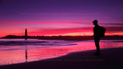 Alone, but never lonely (self) (Erick Castelln) Tags: pink sunset red orange lighthouse seascape self seaside purple selfies canon60d scphoto
