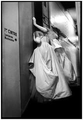 curiosit / curiosity (philippe marchand photography) Tags: blackandwhite bw white black paris france blancoynegro film monochrome analog teatro theater artist noiretblanc theatre escalera actress analogue biancoenero escaleras argentique comedien comedienne attrice philippemarchand
