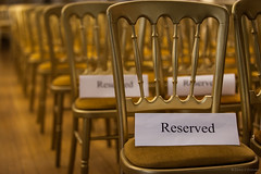 Reserved (Denis O'Donovan) Tags: sign gold concert chairs performance musical cast singers reserved farmleigh iamo