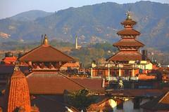 Temples (AdjaFong) Tags: nepal roofs eveninglight tempel bhaktapur