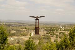Bigger in Texas (Photogaphics) Tags: sculpture texas eagle illusion