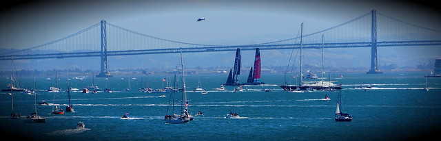 bay bridge and start of the race