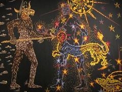"""""""La Lutte du Savoir contre l'Ignorance"""" (1958), dtail, tapisserie de Jean Lurat - Muse des Beaux-Arts de Nancy (54) (Yvette Gauthier) Tags: lutte muse nancy 54 ignorance savoir tapisserie meurtheetmoselle jeanlurat"""