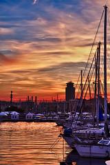 Atardecer en el puerto de Barcelona (NMarc32) Tags: port puerto hdr img3993