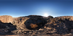 Potholes Beside Deep Lake, Grand Coulee, Washington (Garret Veley) Tags: park panorama washington desert coulee stitched 360x180 potholes dryfalls ptgui equirectangular deeplake canon1740mm canon5dmk2 garretveley promotecontrol topazclarity nodalninjam1l