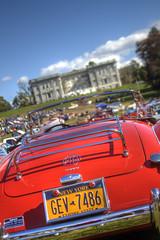 Mills Mansion Car Show (milfodd) Tags: october mg carshow millsmansion 2013 singlerawhdr redsportscar