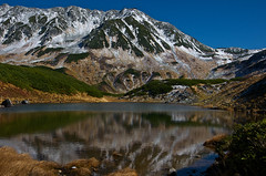 The first snowfall (Yoshia-Y) Tags: snow pond tateyama midorigaike