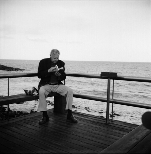Reading at the sea