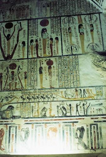 Egipto. Valle de los Reyes. Inscripciones jeroglíficas