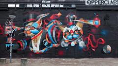 Minimall Hofbogen Rotterdam - Virus (oerendhard1) Tags: street urban 3 streetart art graffiti rotterdam large science virus minimall exra hofbogen opperclaes