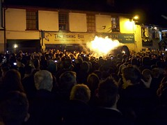 Ottery Tar Barrels (Oliver Quinlan) Tags: england fire crowd guyfawkes burning bonfire devon tar bonfirenight ottery otterystmary tarbarrels tarbarrel